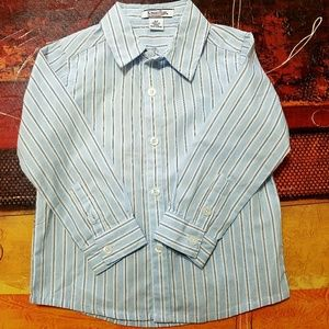 Hartstrings Striped Toddler Dress Shirt Sz 2T